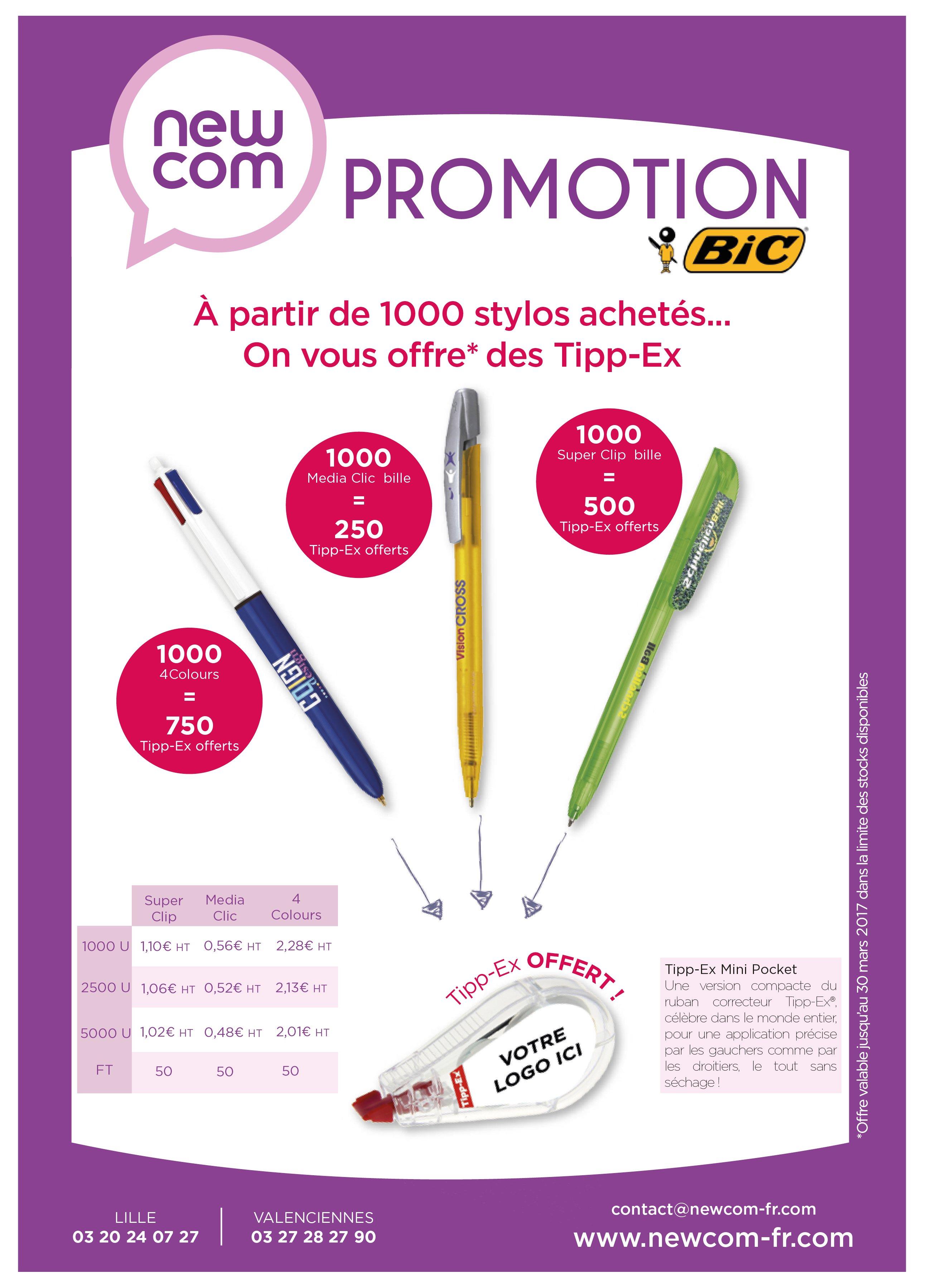 promotion BIC New com