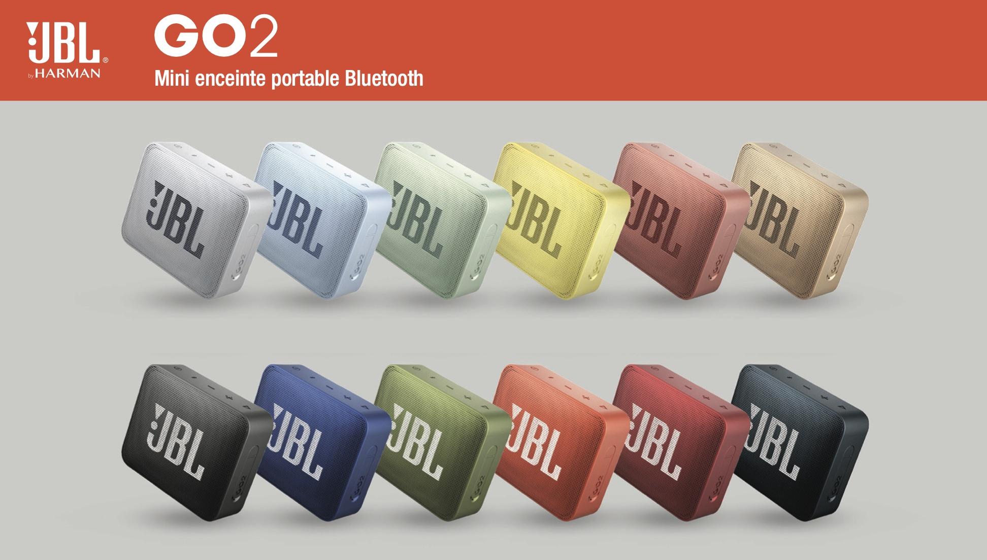 Ensemble de coloris pour l'enceinte JBL GO 2
